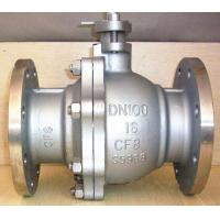 Quality DN100 Stainless Steel Pneumatic Ball Valve / Floating Ball Valve With Flange Connection wholesale