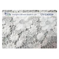 China 100% Nylon Jacquard Lace Fabric with White / Green / Blue Color CY-CX0039 on sale