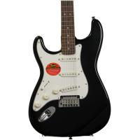 China Squier Standard Stratocaster Left Handed Guitars Black Metallic Agathis on sale