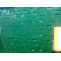 Cheap Green Square Wall Art 3D Wall Panels 3D Wall Board for Household Decoration Wall Coverings for sale