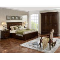 Cheap Strong good quality Wooden Beds set with open Door wardrobe custom in Villa and Hotel furniture FF&E solution fixture for sale