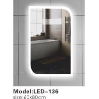 Quality Contemporary Touch Led Bathroom Mirror 600 , Touch Light Vanity Mirror With LED Lights wholesale
