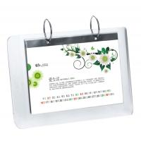 Quality 5mm OEM White Country Acrylic Calendar Holder / Plexiglass Desk Stand SGS wholesale