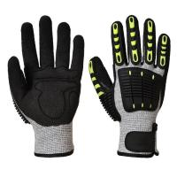 China Anti Cut Shock Proof Mechanics Impact Resistant Gloves TPR Back For Knucle Protection on sale