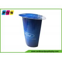 Quality Blue Printing Stand Up Cutouts Portable Advertisng Cardboard Display Table AD017 wholesale