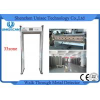 Quality CE / ISO 33 zones walk through security metal detectors 7 inch LCD display wholesale