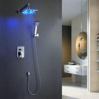 China Wall-Mounted LED Shower Faucet with 8 inch Shower Head + Hand Shower TSF006 on sale