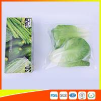 Resealable LDPE Clear Ziplock Freezer Storage Bags For Vegetable Biodegradable