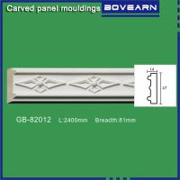 Quality High density polyurethane foam panel mouldings various designs 47mm width color customized OEM cervice wholesale