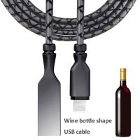 Quality Wine bottle shape USB mobile phone cable 2017 new products wholesale