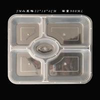 China 4 Compartments Disposable Food Containers Pp Restaurant Plastic Lunch Box on sale
