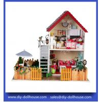 Quality children wooden dollhouse furniture roombox set 13828 wholesale