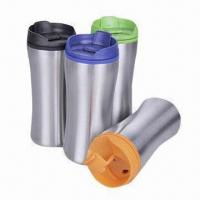 Quality Travel Mugs, Made of Stainless Steel and PP for Inner, with Food Safe Grade wholesale