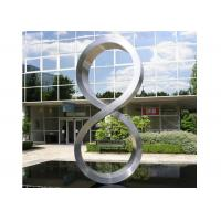 Quality Number Eight Large Steel Sculptures , Stainless Steel Garden Sculptures wholesale