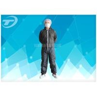 Quality S To 5XL Disposable Coverall Suit / Disposable Hooded Coveralls PE Coated For Men wholesale