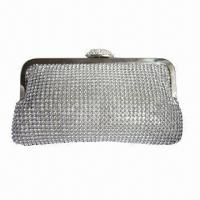 Buy cheap Clutch Bag, 4mm Diamond Mesh, OEM Orders are Welcome from wholesalers