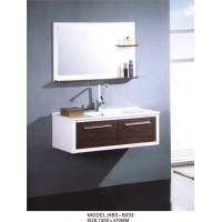 Cheap White hanging bathroom vanity modern 100 X 47/ cm  15mm PVC board Material for sale