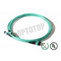 China Green MM OM4 MPO Breakout Cable Male To Female , Length Customized on sale