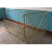 China Warehouse Storage Pallet Cage Stackable Wire Mesh Metal Container on sale