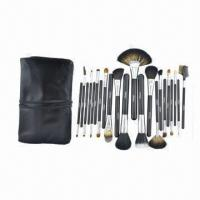 China Professional High-quality New Design 22 Pieces Kolinsky Hair Black Color Cosmetic Brush Set on sale