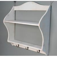Quality Wooden wedding decoration Multi-function Storage Rack shelf Wood Sundries Holder with hook wall sticker wholesale