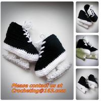 Quality Baby Shoes Infants Crochet Knit Fleece Boots Toddler Girl Boy Wool Snow Crib Shoes Winter Booties wholesale