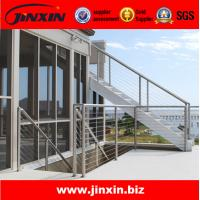 Quality Stainless steel outdoor metal staircase for glass railing wholesale