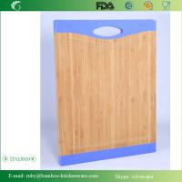 Quality TFGJ010/ Non- Bacteria Christmas Color Bamboo Wooden Cutting Board Butcher Block with Sili wholesale