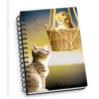 Quality Cartoon Pet Hardcover 3d Lenticular Notebook With Spiral Binding For Student Diary wholesale