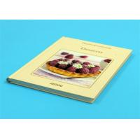 Quality Gloss Lamination Customized Cookbook Printing , Hardcover A4 Book Printing wholesale