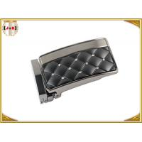 Zinc Alloy Metal Reversible Belt Buckle With Clip , Embossed Rhinestone Belt Buckle
