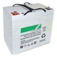 Quality Black 55ah Deep Cycle Lead Acid Battery 12v Sealed , 16kg Weight wholesale
