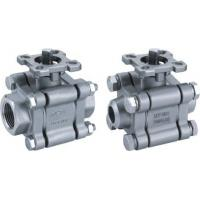 Quality 3-pc stainless steel ball valve full port 2000wog BSPP NPT ISO-5211 DIRECT MOUNTING PAD wholesale