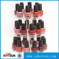 Quality 3 tiered round rotating acrylic nail polish display stand in cheap price wholesale
