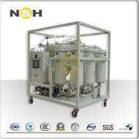 China Vacuum Turbine Oil Purifier Emulsified Water Impurities Removal Mobile Type With Trailer on sale