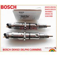 Genuine and New common rail injector 0445120236, 0445120125, 4939061, 4940170 5263308