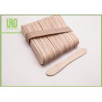 Quality Disposable Lolly Pop Ice Cream Wooden Sticks , 114mm Natural Wooden Sticks wholesale
