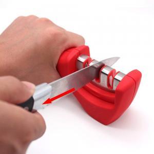 China 3 Stage Portable Kitchen Knife Sharpener / Ceramic Knife Sharpener 205*50*70mm on sale