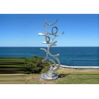 Quality Contemporary Art Stainless Steel Sculpture For Outdoor Decoration Anti Corrosion  wholesale