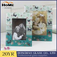 China Customized Design Glass Wedding Photo Frames For Office / Home Ornament on sale