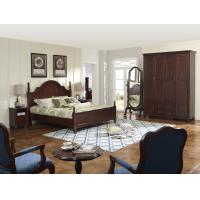 Cheap Rubber Wood made bedroom furniture American style design for Luxury Apartment for sale