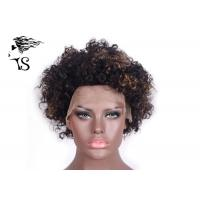 Quality Short Kinky Curly Indian Remy Full Lace Wigs Human Hair For African American Women wholesale