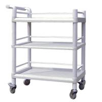 Quality Strong Load Bearing Utlity Medical Instrument Trolley 3 Tiers Plastic Trolley Cart wholesale