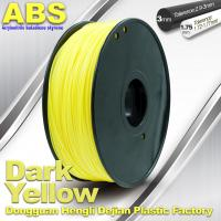 Quality Dark Yellow ABS  Filament ,  Filament 3D Printing Plastic Material 1.75 / 3mm wholesale