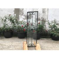 Quality Square Top Eyebrow Wrought Iron Glass Galvanized Steel Anti Rusting wholesale