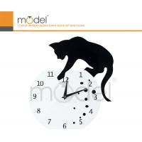 Quality Antique Cat Design White Acrylic Digital Wall Clock Decoration For Office wholesale