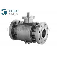 Quality API 6D Stainless Steel Trunnion Isolation Ball Valve Flange Type Fire Proof wholesale