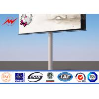 Quality Waterproof Outdoor Billboard Advertising , Road LED Screen Billboard  DIP 346 wholesale