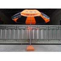 Quality Orange And Black Outdoor Garden Umbrella Heat Transfer Printing , Eco - Friendly wholesale