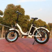 Quality Foldable 20 Inch Fat Tire Electric Bike Wattage 351 - 500W Voltage 48V For Girls wholesale